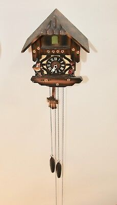 Vintage Chalet Style Cuckoo Clock  working