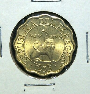 Paraguay - 1953 - 10, 15, 25 & 50 Centimos - 4 Great Coins!