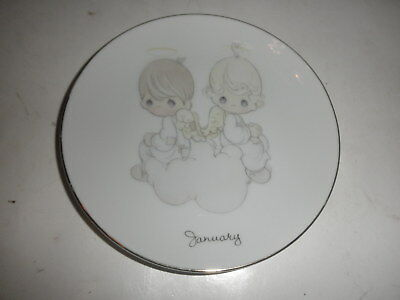 """Enesco Precious Moments JANUARY Plate 1983 61/4 """" Months of the Year"""