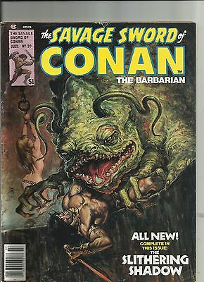 The Savage Sword of Conan The Barbarian #20 (1974) Marvel Magazine