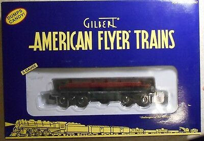 American Flyer S Gauge A/f Christmas Candy Cane Dump Car--Item #6-49028