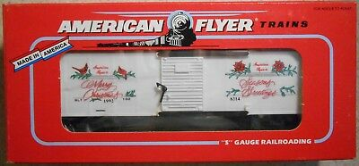 American Flyer S Gauge 1992 Merry Christmas Holiday Boxcar--Item #6-48314