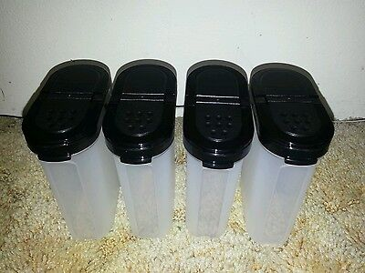 Tupperware - Modular Mates Large Spice Set x 4 Containers - Black New greystone*