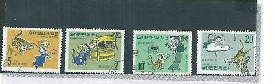 South Korea. 1970 Fairy Tales Set. Very Fine Used. As Per Scan