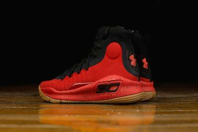 b4fe12f349ec NEW AUTHENTIC Under Armour Curry 4 Basketball Shoes Red Black 1298306 603