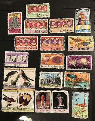 St. Vincent  postage stamps lot of 20 old               F