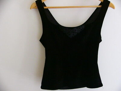 Women's Vintage top - Velvet and Lace, size small- medium