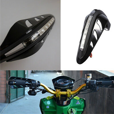 1 Pair Motorcycle Handlebar Mounting Hand Guard Wind Protector With LED Light