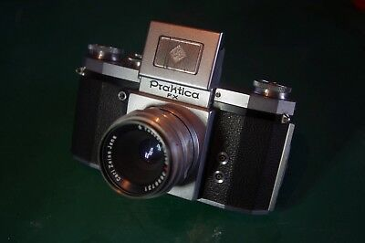 Praktica FX SLR Camera with Carl Zeiss Jena Tessar T Lens. Made in Germany