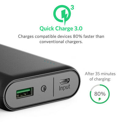 ANKER POWERCORE 10000 MAH QC3.0 Qualcomm Quick Charge 3.0 Portable Charger