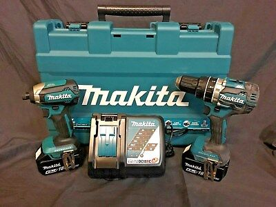 Makita 18V Brushless 2 Piece Combo Set Impact Drill & Hammer Driver Drill