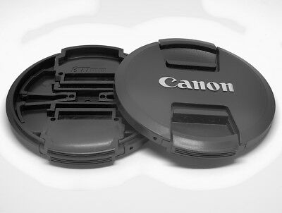 77mm LC-77 MKII Style Snap-on Front Lens Cap for CANON EF/EF-S Lens UK SELLER
