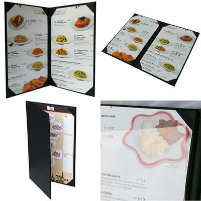 """5 Pcs Of Restaurant Menu Covers Holders 8.5"""" X 14"""" Inches,Double View,Sold By"""