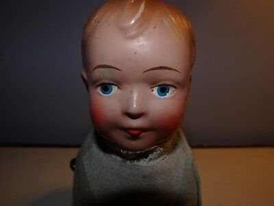 Antique GEE Walking Toys CREEPING BABY Wind Up Doll c.1915 Gund American V. Rare