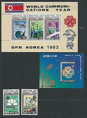 1983 World Communications Year 2 Stamps & 2 Mini Sheets complete MUH/MNH