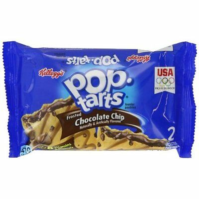 Kelloggs Pop Tarts Frosted Chocolate Chip Twin Pack 104 g (Pack of 6)