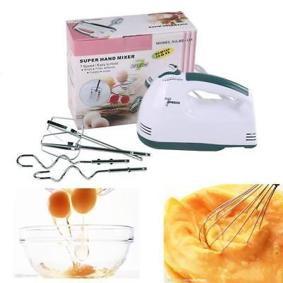 Electric Super Hand Mixer Whisk Food Beater 7-speed Selectors