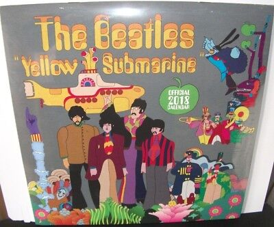 The Beatles - Yellow Submarine. Official Calendar 2018..Authorised New & Sealed.