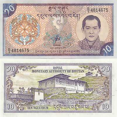 Bhutan 10 Ngultrum (2000) - King/Palace/p22 UNC