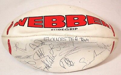 Rugby Ball Signed by Gloucester Team  Thames hospice 102R2