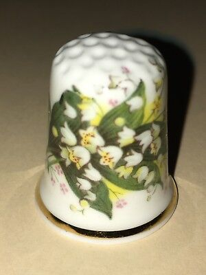 FINGERHUT Thimble Porzellan Porcelain Birchcroft Maiglöckchen Lily of The Valley
