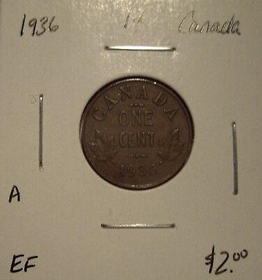 A Canada George V 1936 Small Cent - EF