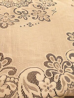 Beautiful Large Lace Pattern Tablecloth vintage Retro 240x150cm shabby chic