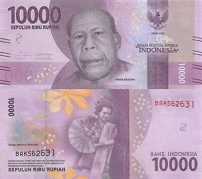 Indonesia 10000 Rupiah (2016) - New Series Issue/pNew UNC