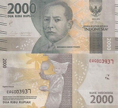 Indonesia 2000 Rupiah (2016) - New Series Issue/pNew UNC