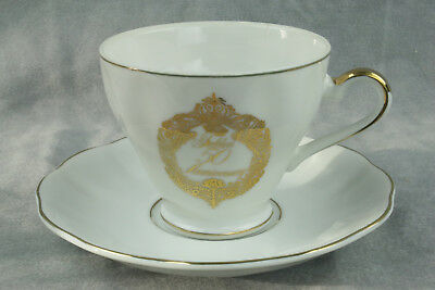 Vintage Gold 50th Anniversary Cup and Saucer - Napcoware - Import Japan