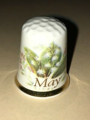 FINGERHUT Thimble Porzellan Porcelain Frika May Maiglöckchen Lily of The Valley