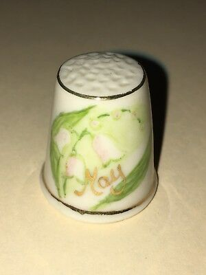 FINGERHUT Thimble Porzellan Hurley Porcelain May Maiglöckchen Lily of The Valley