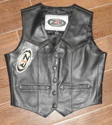 New Z1R Leather Womens Street Road Motorcycle Jacket Size 8