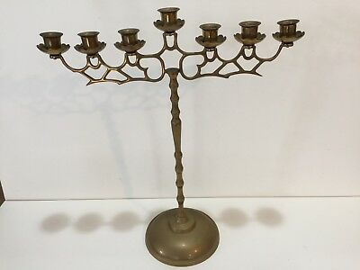 "Vintage Brass 7 arms Candelabra Candle Holder, 19 1/2"" Tall x 17"" Widest"