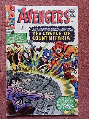 The Avengers #13 - Feb. 1964 - Count Nefaria - Marvel - Silver Age - Very Nice