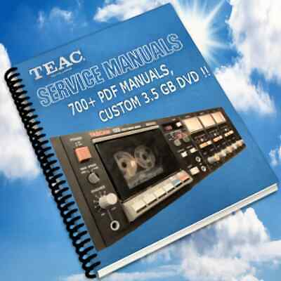 Teac Service Manuals Owners Manuals, Custom Compilation DVD Collection PDF DVD