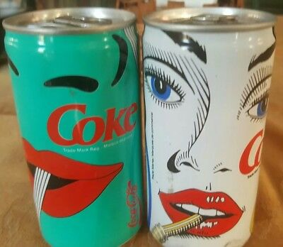 Coca Cola From Quebec,  Canada. For 2 1990 Coke Cans   Empty an Unopened.