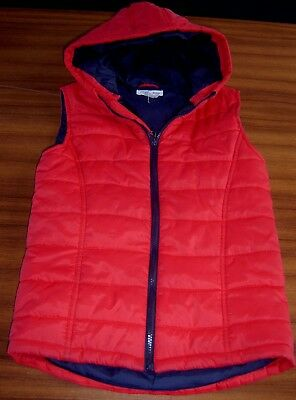 Charlie And Me  Boys Red Hooded Puffer Vest Sz 9