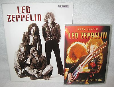 New-Led Zeppelin-A Life In Pictures Softcover Book+ Led Zeppelin Rock Review Dvd