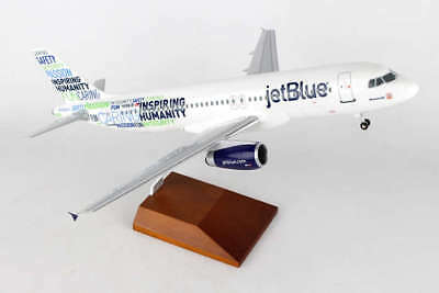 Skymarks SKR8343 Jetblue Airbus A320-2 Bluemanity Desk Top 1/100 Model Airplane