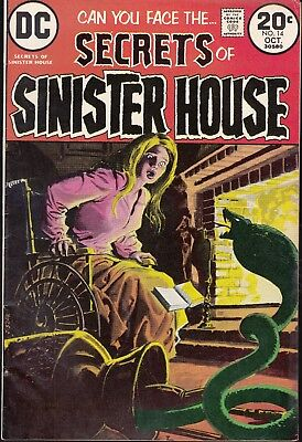 Secrets Of Sinister House  #14 1973 Dc -Man & Snake- Alcala/ Bierce...fn