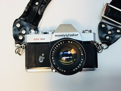 Mamiya/Sekor DSX1000 35 mm Camera with Owners Manual and Purchase Receipt P-129