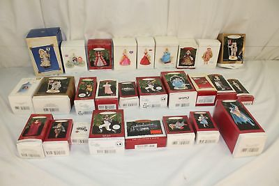Lot Of 27, Hallmark Handcrafted, Keepsake, Christmas Ornaments Collection.