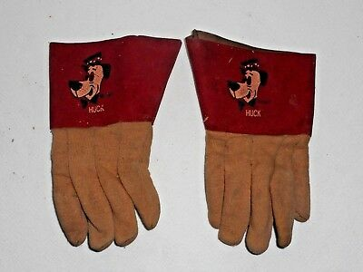 Vintage Hanna Barbera Huckleberry Hound Children's Gloves