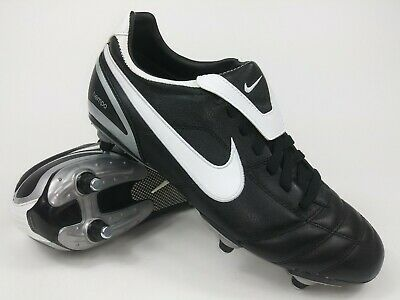 9c101a180a8 Nike Mens Rare Tiempo Mystic ll SG 317588-011 Black White Soccer Cleats  Boots