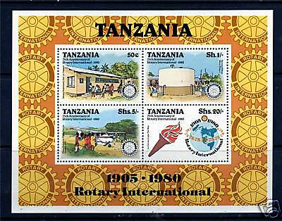 Tanzania 1980 Rotary International MS SG 282 MNH