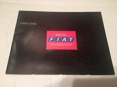 1974 Fiat 75th Anniversary Full Line Catalog Sales Brochure Speedway Indiana