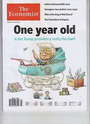 Donald Trump The Economist Magazine January 13 2018 No Label One Year Old