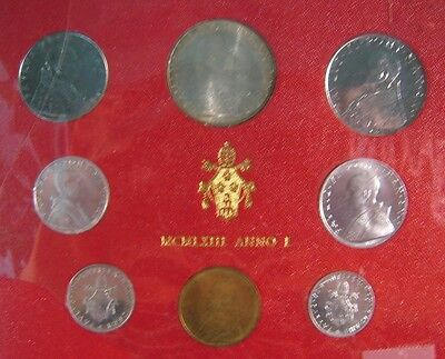1963 Vatican City Mint Coinage Set Uncirculated 8 Coin**  FREE U.S. SHIPPING  **