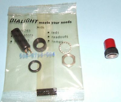 Dialight Lamp Holder 508-8738-504 (NIP) & Red Lens for Vox Amps - Free Ship!
